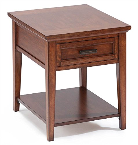 Magnussen Harbor Bay Wood Square End Table (End Magnussen Table Cherry)