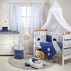 Blue-Star-Crib-Bedding-Set-3PC-Bedding-Set-1-x-Hamper