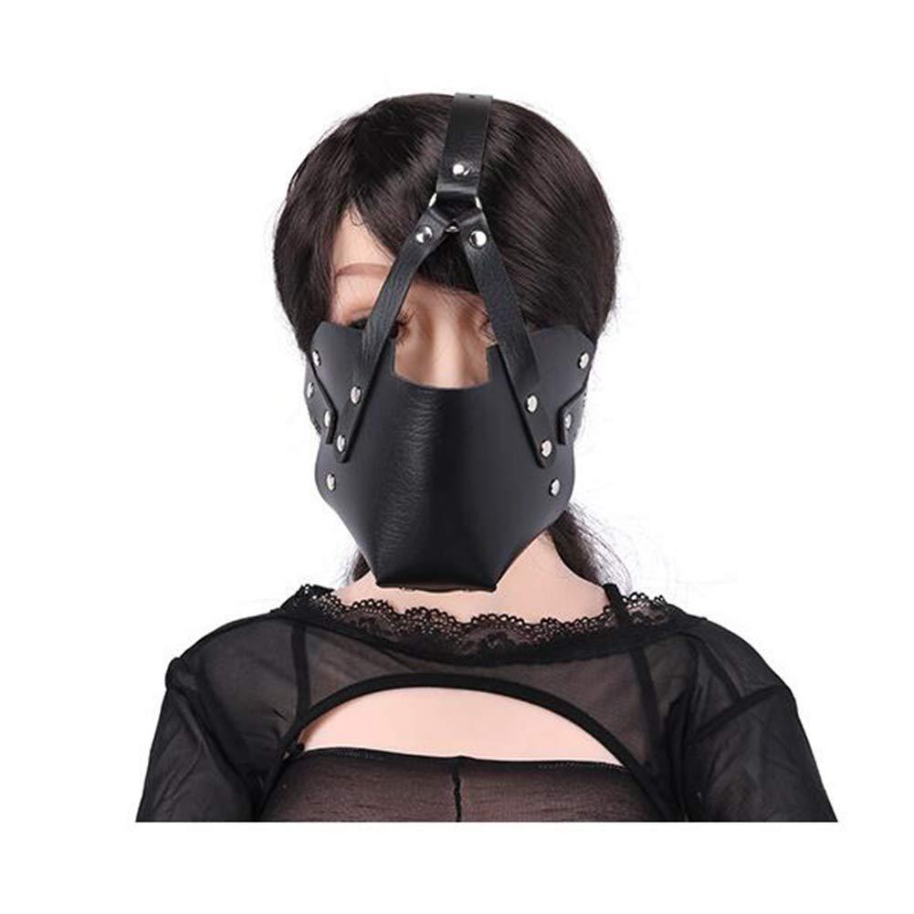 YEZHIMEIMIAO Black Soft PU Thickening Strengthen Fun Mask Horse-Style Leather Flirt Sex-Toy Half Mask Couple Flirt by YEZHIMEIMIAO