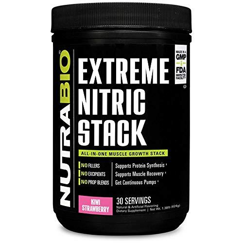 NutraBio Extreme Nitric Stack (Kiwi Strawberry) – Nitric Oxide and Cell Volumizing Formula