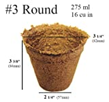 100 x (3 Inch Round) Eco-Friendly CowPots Cow Pots for Seeds Starting Transplants 100% Natural and Biodegradable - Develop Healthier Roots - Pots Adds Nutrients to Soil