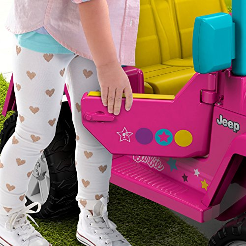 51CEV6sAglL - Power Wheels Barbie Jeep Wrangler