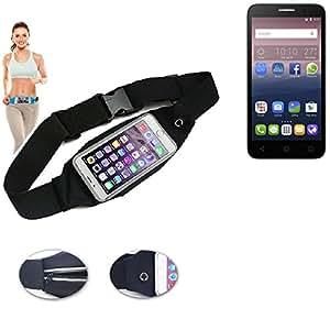 Cinturón de bandolera bolso de la cintura bolsa para Alcatel One Touch Pop 3 (5) LTE, negro. Aptitud del deporte de la cubierta a prueba de lluvia Ejercicio corriente - K-S-Trade (TM)