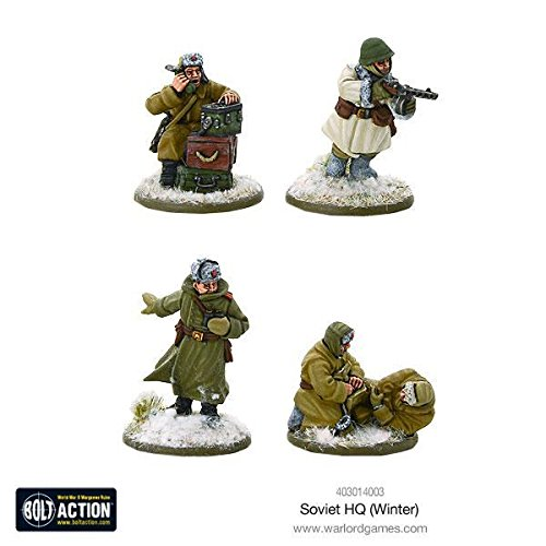 Warlord Games  Soviet HQ (Winter)  Bolt Action Wargaming Miniatures