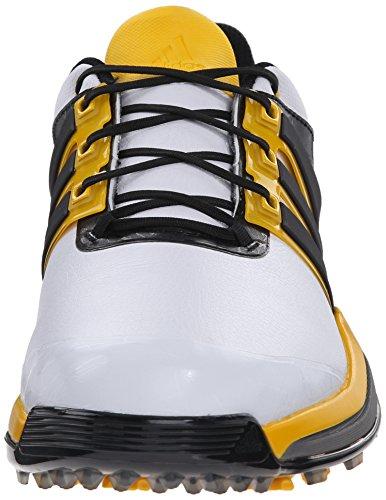 adidas Mens Adipower Boost Golf Shoe White/Black/Bright Yellow as86SYYH