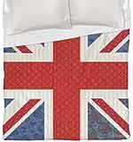 Manual Woodworkers & Weavers Duvet Cover, Full/Queen, Mini Print Union Jack