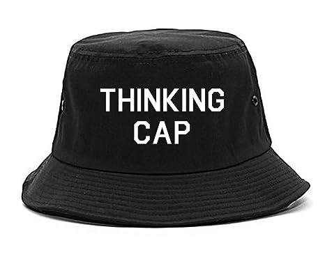 Amazon.com  Thinking Funny Nerd Bucket Hat Black  Clothing 16fb44d052b