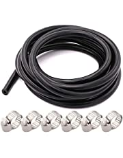 High Temperature Vacuum Silicone tube 3mm/4mm/5mm/6mm/8mm/10mm,10ft with Stainless Worm Gear Hose Clamps
