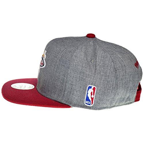 Mitchell & Ness - Casquette Snapback Homme NBA Team Pop - Miami Heat