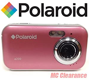 Polaroid CAA-200PC 2MP CMOS Digital Camera with 1.44-Inch LCD Display (Pink)