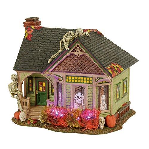 Department 56 Halloween Village Lit the Skeleton House