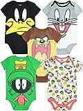 Warner Bros. Looney Tunes Infant Baby Boy Girl 5 Pack Bodysuit (12 Months)