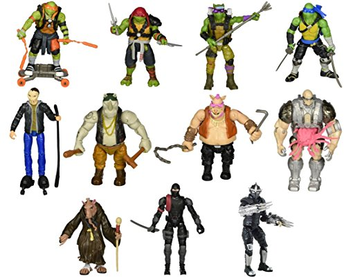 "Teenage Mutant Ninja Turtles 5"" Action Figure Set 11-Pack [ Michelangelo, Donatello, Raphael, Leonardo, Splinter, Casey Jones, Foot Soldier, Rocksteady, Bebop, Shredder, & Kraang ]"