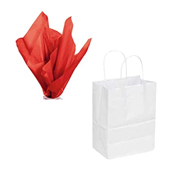 Amazon.com: Bolsas de papel Kraft blanco y papel de seda ...