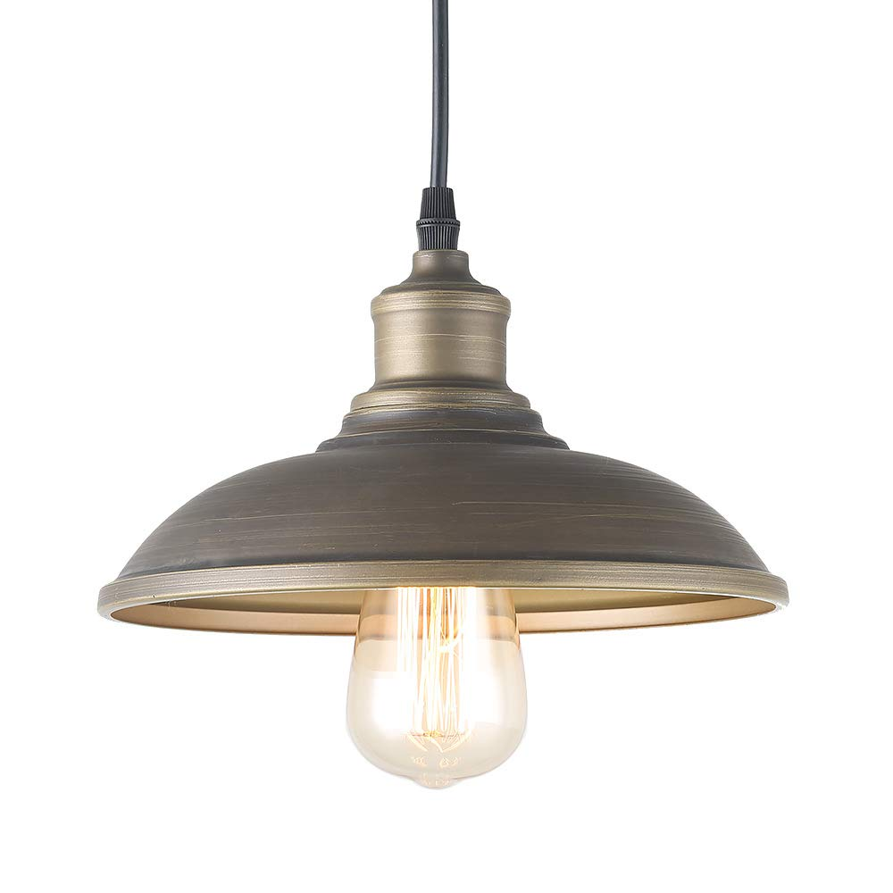 Giluta Adjustable Industrial Pendant Lighting of Rustic Vintage Ceiling Hanging Light Fixture with Indoor Antique Edison Style and Retro Look Indoor for Kitchen Dining Room Farmhouse (1 Light)