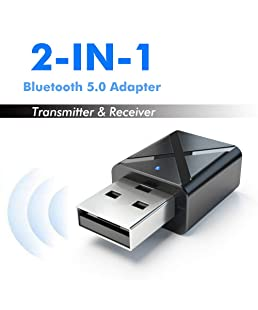 Xiufen Stereo Audio Adapter Bluetooth 5.0 Transmitter 2 in 1 Receiver 3.5mm Wireless