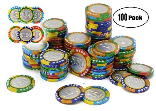 Chocolate Poker Chips (Chocolate Casino Poker Chips Chocolate Coins Kosher- 100 Poker)