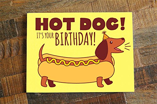 Amazon Hot Dog Birthday Card