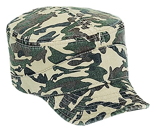 Camouflage Garment Washed Cotton Twill Flexible Soft Visor Military Style Caps