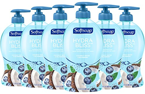 Softsoap Hydra Bliss Liquid Hand Soap, Coconut Water and Blueberry - 11.25 fluid ounce (Pack of 6)