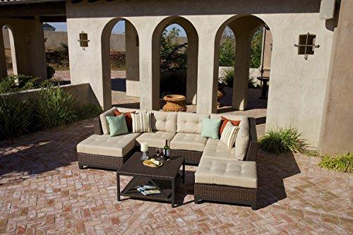 Ace Evert, Harrington 21924 5 Piece Deep Seating Patio Set; SUNBRELLA fabric; All weather wicker