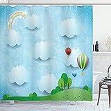 Ambesonne Nursery Shower Curtain, Nursery Theme