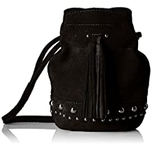 The Fix Kirby Mini Studded Suede Bucket Crossbody Bag