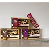GLUTEN FREE: 180 Snacks Trail Mix Crunch Bars Variety of 3 Boxes-Individually Wrapped. Almond Cashew, Blueberry Pomegranate & Cranberry Pomegranate + a Bonus GF Candy Recipe From Z-Organics (15 Bars)