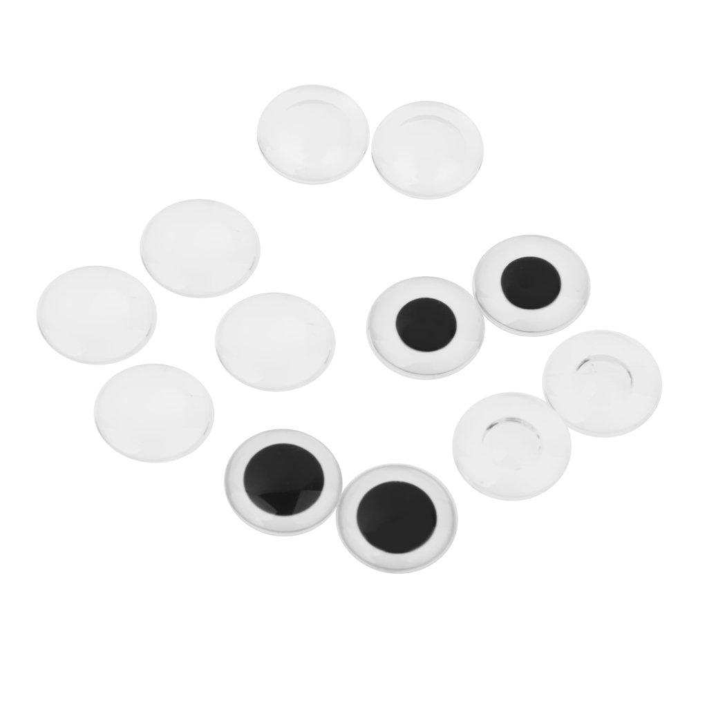 6 Pares Tamano Clasificado De La Muneca Del Oso Ojos De Plastico Bricolaje Para Blythe