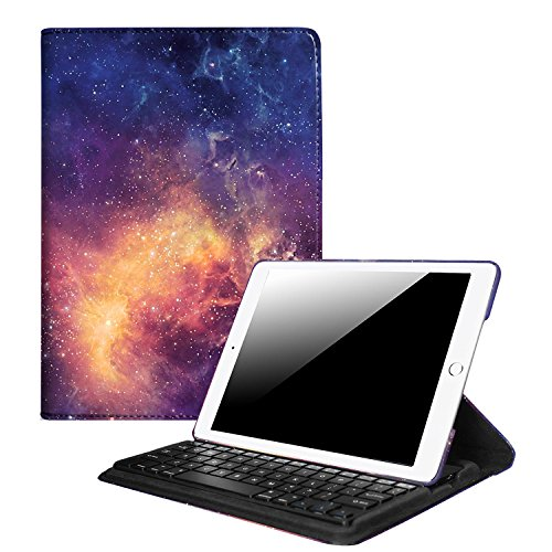 Fintie iPad 9.7 inch 2017 / iPad Air Keyboard Case - 360 Degree Rotating Stand Cover with Built-in Wireless Bluetooth Keyboard for Apple New iPad 9.7 inch 2017 / iPad Air (2013 Model), Galaxy