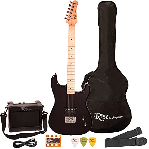 Rise by Sawtooth STRISESTBLKKIT1 Electric Guitar Pack Black