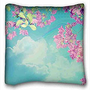 "Soft Pillow Case Cover Nature DIY Pillow Cover Size 16""X16"" suitable for Full-bed"