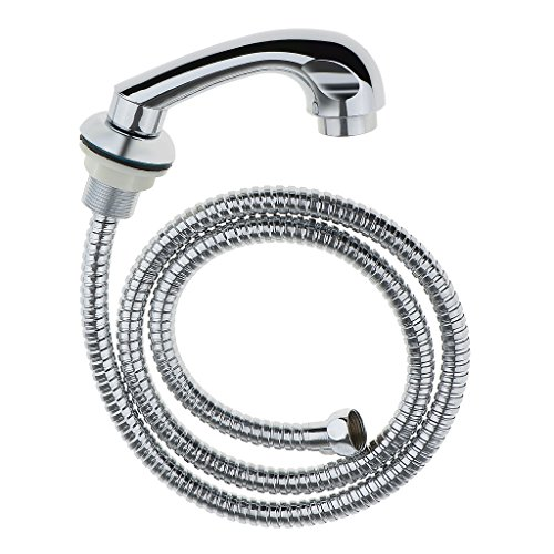 DYNWAVE Salon Hair Washing Shampoo Bowl Faucet with Sprayer Hose - Silver from DYNWAVE