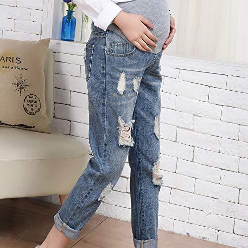 Incinte Jeans Pantaloni Allentato I Delle Allattano Dei Dello Blu Vovotrade❤le Del Sollevatore Donne Di Stomaco Foro 4xwf5CqF