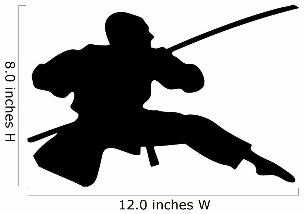 Amazon.com: wallmonkeys wm176835 Acción Ninja Silueta – 6 ...