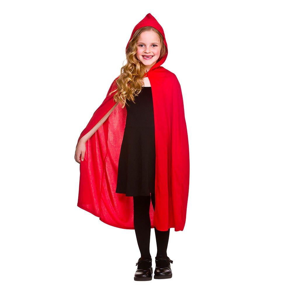 Wicked Kids Hooded Cape Red Fancy Dress Costume