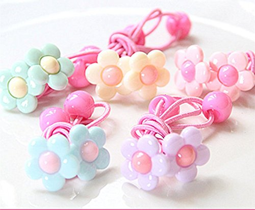 cuhair New Fashion Top Quality Baby Girl Kids 10pcs hair Rope Hair Accesorries Pretty Sunflower Hair Rope Hair Band Accessories Rubber Band Elastic Hair Rope for Baby Kids - Usd Number Tracking
