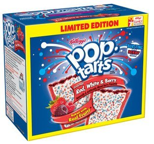 Pop-Tarts Frosted Red White & Berry Toaster Pastries, 16 count, 28.2 oz Kellogg's Poptarts