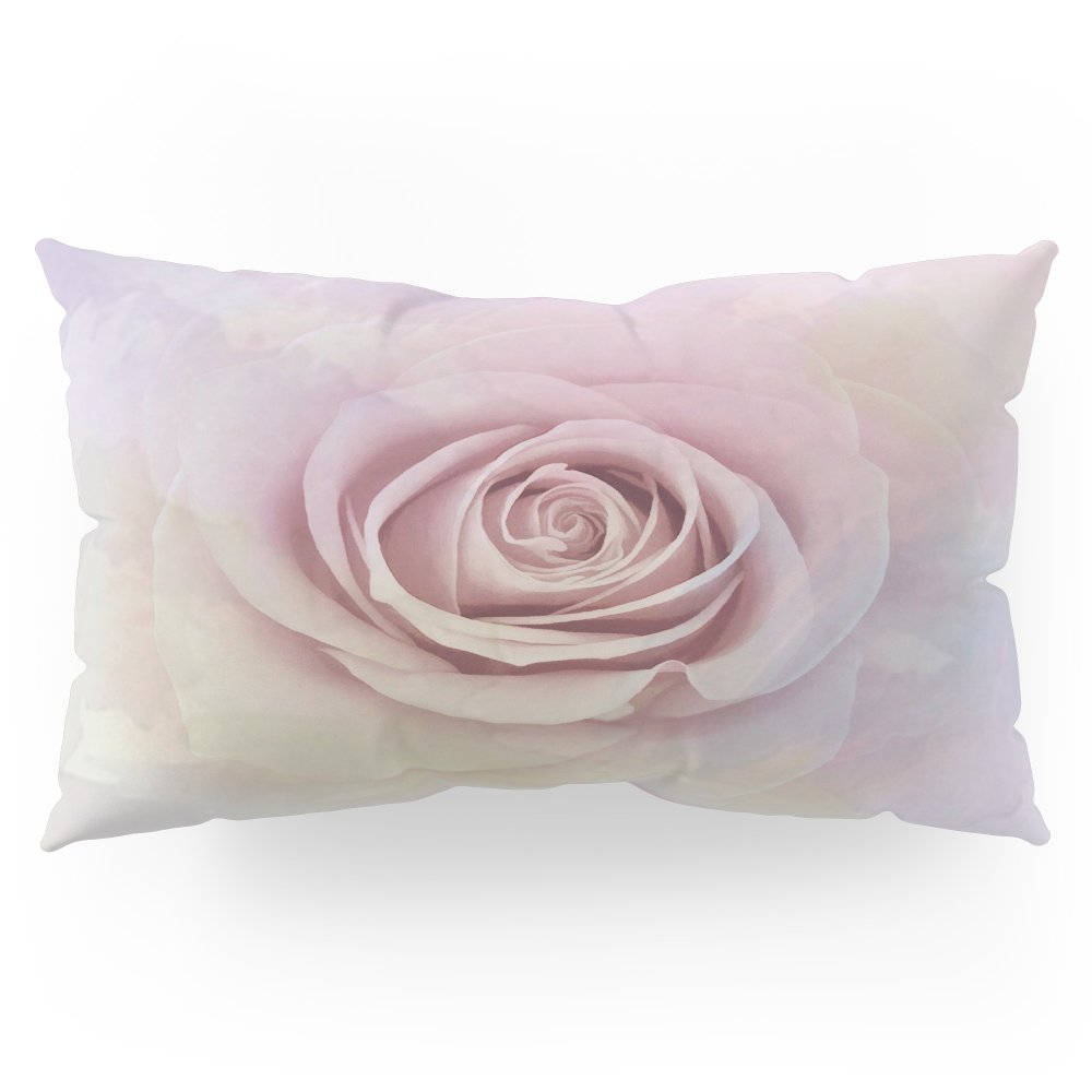 Society6 Forever My Love Pink Rose Abstract Pillow Sham King (20'' x 36'') Set of 2