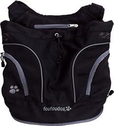 FouFou Dog Poochy Pouch, Black - Small
