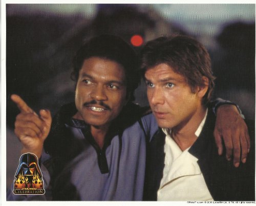 Star Wars Cast Photo Harrison Ford as Han & Billy Dee Williams as Lando 8 x 10 inch Photo