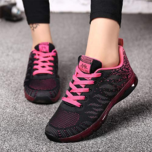 Rosa Caminar Encaje Zapatos Caliente Casual Damas Femenino Lona de de Transpirable Mujeres Vulcanizado Calzado para Zapatillas Las UwPZSq
