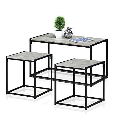 Furinno FM-TS31DO Modern Lifestyle Living Room Set, Dark Oak