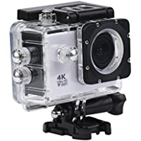WIFI Waterproof Mini Action Sports Camera, SANNYSIS 4K 1080P Sports Recorder HD DV White