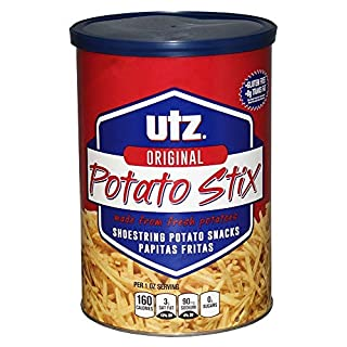 Utz Potato Stix, Original – 15 Oz. Canister – Shoestring Potato Sticks Made from Fresh Potatoes, Crispy, Crunchy Snacks in Resealable Container, Cholesterol Free, Trans-Fat Free, Gluten-Free Snacks