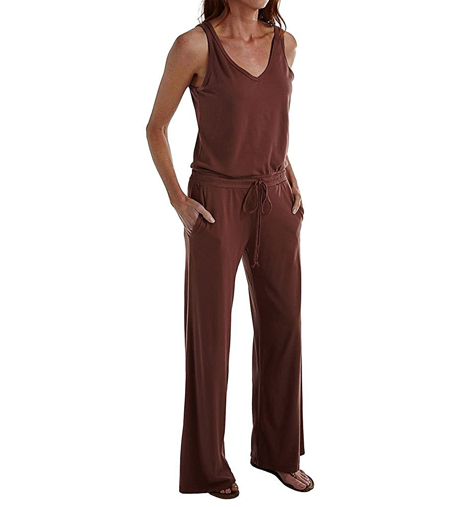 dbbc1b569999 Michael Stars Sleeveless Double V-Neck Jumpsuit (9588) S Makeup   Amazon.co.uk  Clothing