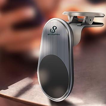 Snowpea Soporte Móvil Coche Magnético Universal para Rejillas del Aire Soporte Smartphone Coche para iPhone 7/6s/6/5s/5,Samsung Note 8/S8/Note 4,LG G3 y Dispositivo GPS (Negro-AH4): Amazon.es: Electrónica