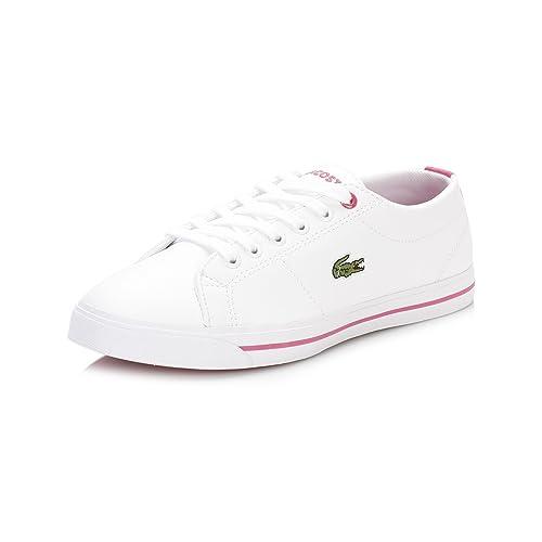 38ae98f79 Lacoste Girls Junior Girls Riberac Trainers in White Pink - UK 4.5 ...