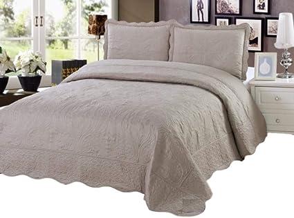 Amazon Sazana California King Size Quilt 3 Piece Bedding Bed