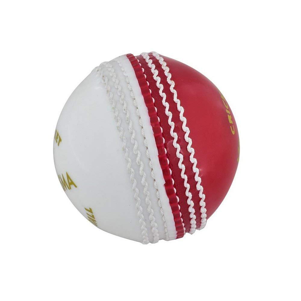 Kosma Set de 2 bolas de Cricket cricket Suave Suave Poly| |Bola habilidades Formación Coaching Bola (rojo/blanco) Montstar Global